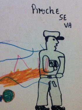 Desenhos feitos por crianças que viveram sob a ditadura de Pinochet: a seção mais chocante do museu.